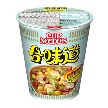 Zupa - makaron Nissin Cup Noodles - owoce morza na ostro